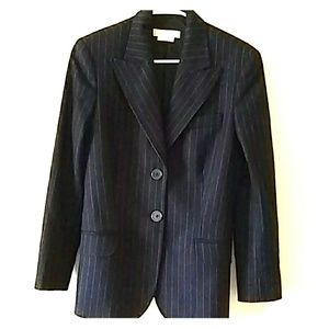 Michael Kors 2-Button Peak Lapels Navy/Sky Blazer